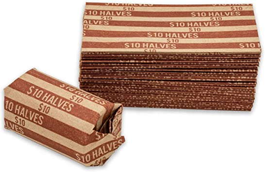 Amazon Com Half Dollar Coin Wrappers 100 Flat Striped Coin