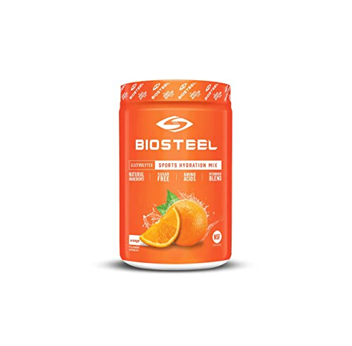 BioSteel High Performance Sports Hydration – Sugar Free Drink Mix, Orange, 45 Servings