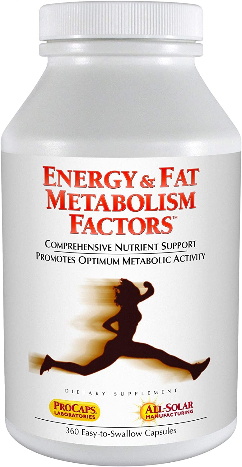 Andrew Lessman Energy Fat Metabolism Factors 360 Capsules – Promotes Optimum Fat Burning and Energy Metabolism, with Carnitine, Green Tea, Guarana, Ginseng, B-Complex. Easy to Swallow Capsules