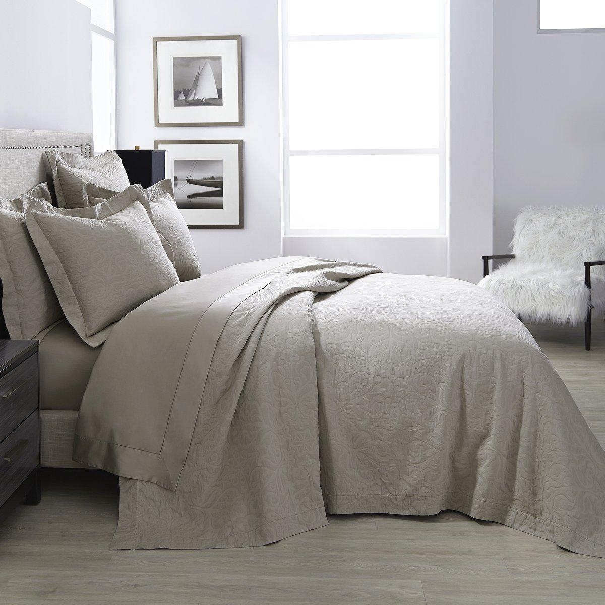 Battia毛布カバー& Shams by Sferra – Cashew King Blanket Cover 114x93 ブラウン B077CRRYCQ Cashew King Blanket Cover 114x93