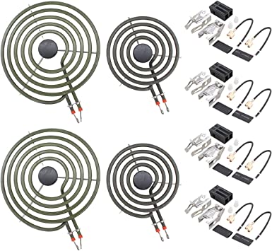 Pack of 4 Moteder 330031 Range Burner Surface Element Receptacle Kit Compatible with Whirlpool Kenmore Jennair Replaces 814399 5303935058 ERR117 WB17X210