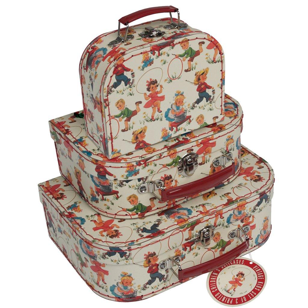Mini Suitcases Decorative Storage Boxes   Choice Of Design ( Vintage Kids  ): Amazon.co.uk: Kitchen U0026 Home