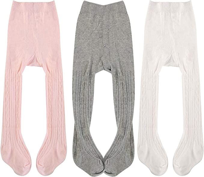 CHOICE OF 4 COLOURS BABY GIRLS TICK-TOCK PLAIN SINGLE PACK TIGHTS