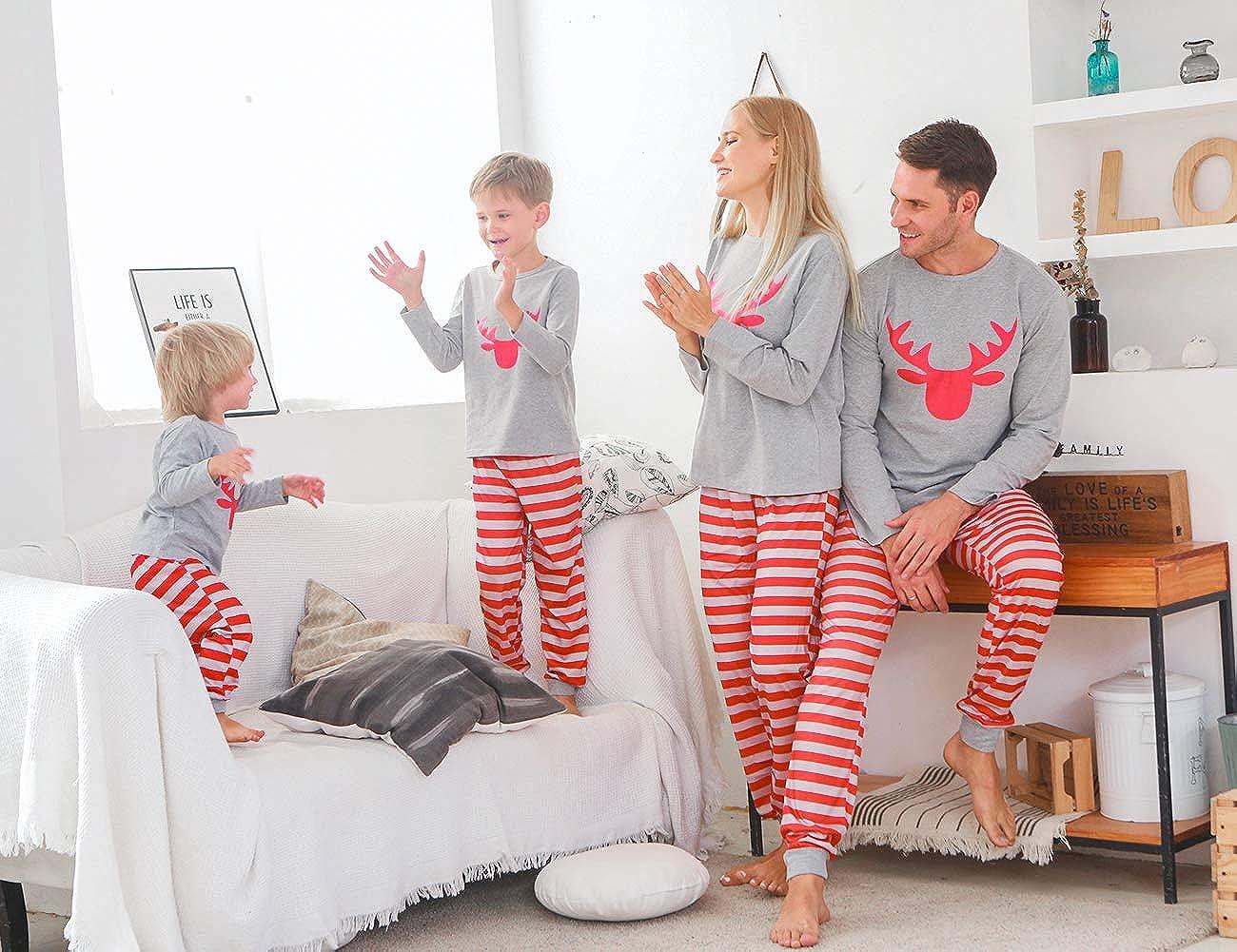 Pantalones Ropa de Dormir Camisones Casa ZOEREA Pijamas Familiares de Dos Piezas Navidad Beb/é Ni/ño Ni/ña Pap/á Mam/á Conjunto de Ropa Mangas Largas Top