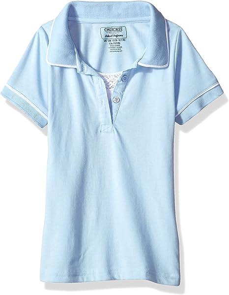 Girls White Blouse Peter Pan Collar U.S.POLO Uniform Plus Sizes 10 1//2-16 1//2