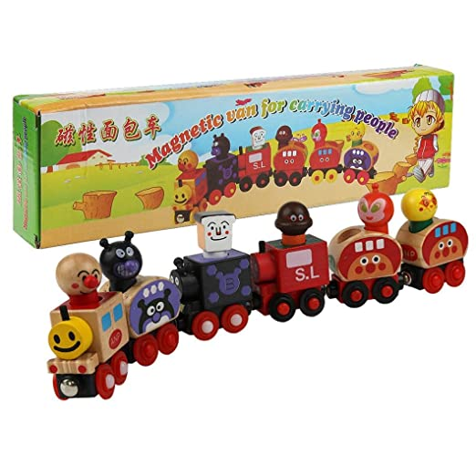 Amazon.com: LandFox Toy,Magnetic Wooden Cartoon Animal Train Puzzle Christmas Gifts For Children: Toys & Games