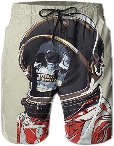 HZamora/_H Mens Vintage Pirate Skull Summer Breathable Quick-Drying Swim Trunks Beach Shorts Cargo Shorts