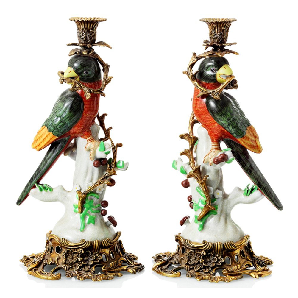 European classical candle High-end home Villa animal candlestick ornaments-A