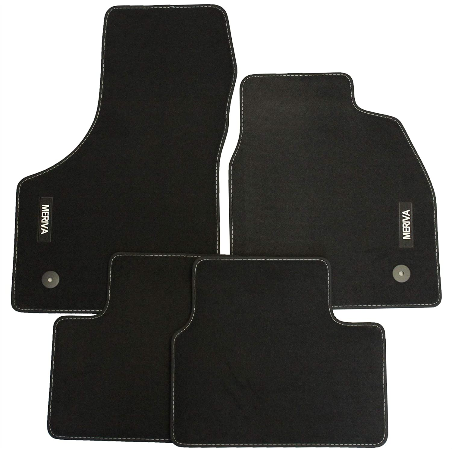 Genuine Vauxhall Meriva B Carpet Footwell Mats Tailored Fitted Black Set of4 Official Vauxhall Meriva B 2010 - 2017 Velour Mats