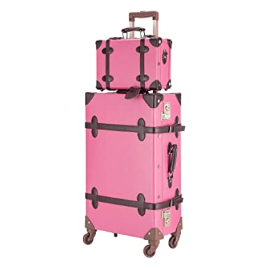 Amazon.com | CO-Z Premium Vintage Luggage Sets 24