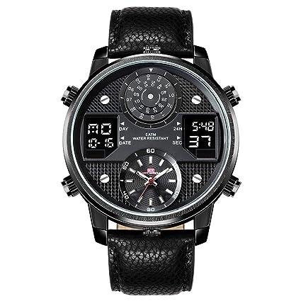 YUNDING Reloj Deportivo Reloj Acuático De 50 Metros Reloj Inteligente Bluetooth con Puntero Digital Pantalla De
