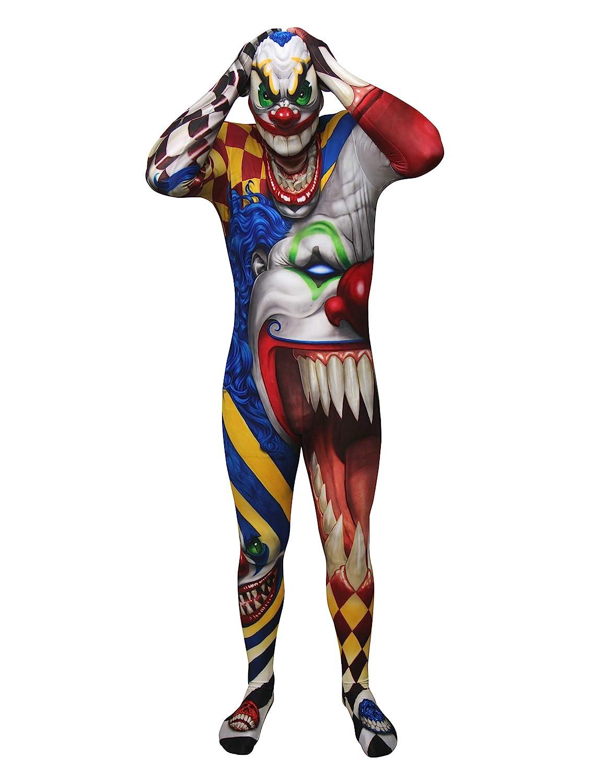 KULTFAKTOR GmbH Psycho Clown Morphsuit Morphsuit Morphsuit Halloween bunt M (bis zu 1,60 m) addfae