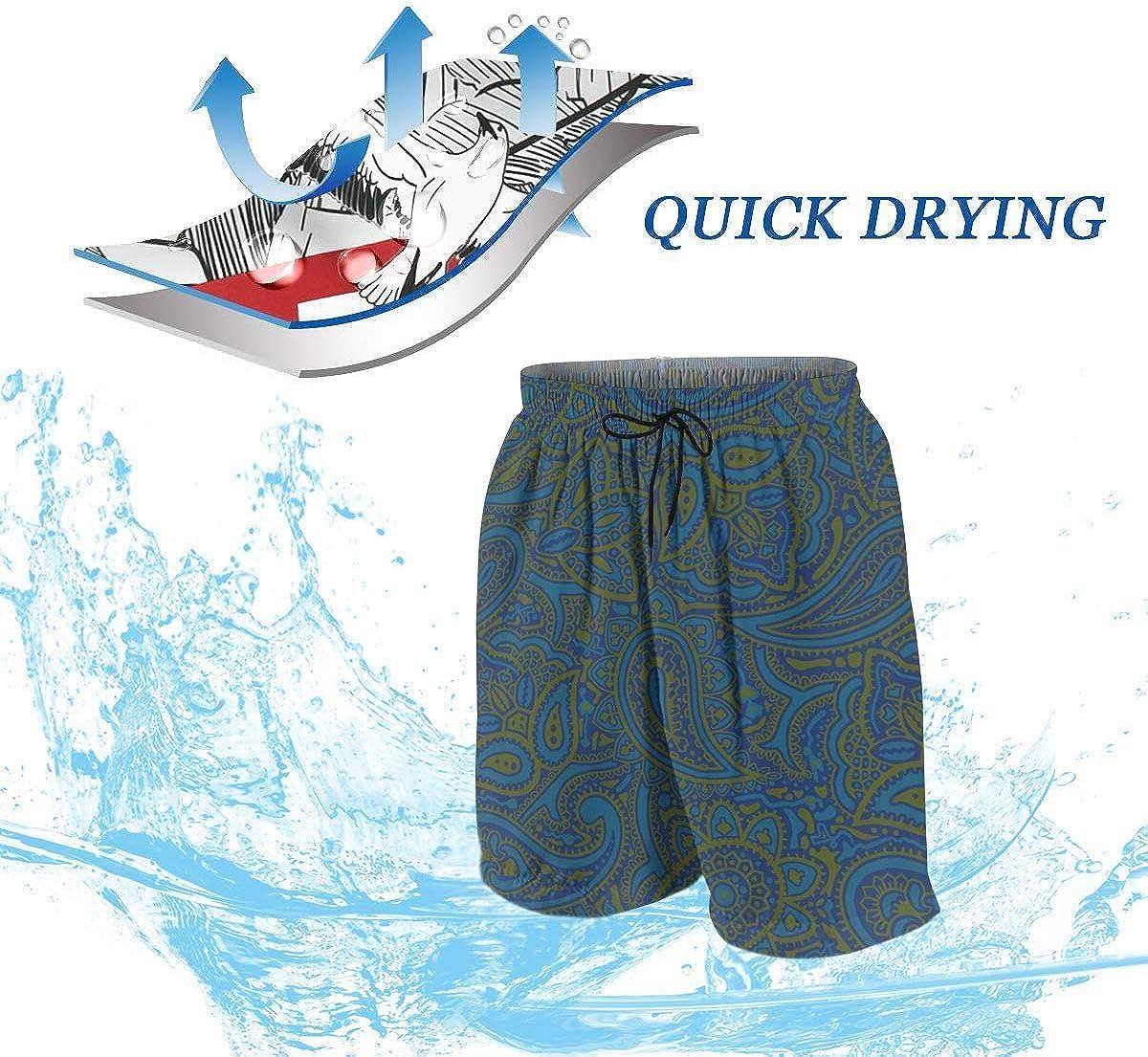 Homemen Boys Trunks Swimwear,Paisley Greenblue/_1979