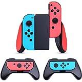 HEYSTOP Nintendo Switch Joy-Con Grips [3 Pièces],Manette Switch Coque de Protection Contrôleur Jeu Poignées Kit pour Nintendo Switch Joy-Con