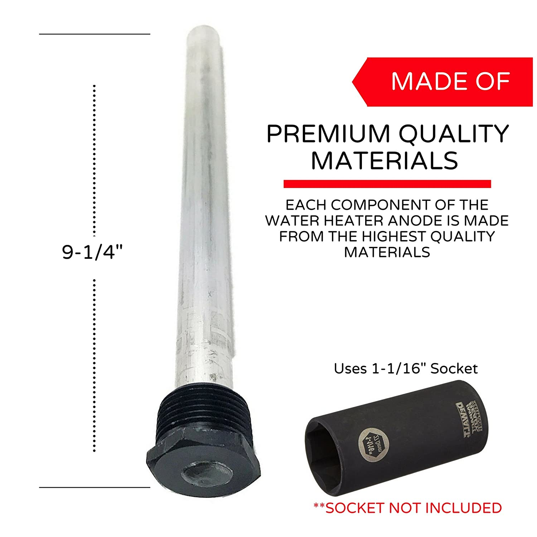 RV Water Heater Anode Rod
