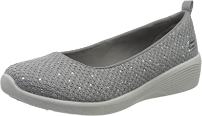 técnico Igualmente escotilla  Skechers Arya-Sweet Glitz, Zapatillas sin Cordones, Gris Gris Gris Metálico  Knit Gris Claro Plateado Trim Gry, 35.5 EU: Amazon.es: Zapatos y  complementos