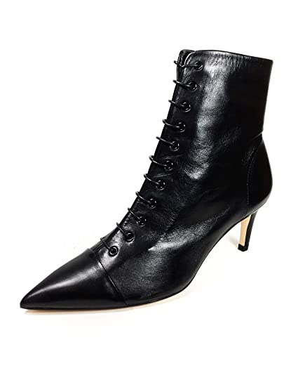 f066768e4b34 Amazon.com  Zara Women Lace-up leather high heel ankle boots 5144 301   Clothing