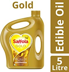 Saffola Gold, Pro Healthy Lifestyle Edible Oil, 5 L Jar