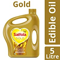 Saffola Gold, Pro Healthy Lifestyle Edible Oil, 5 L Jar