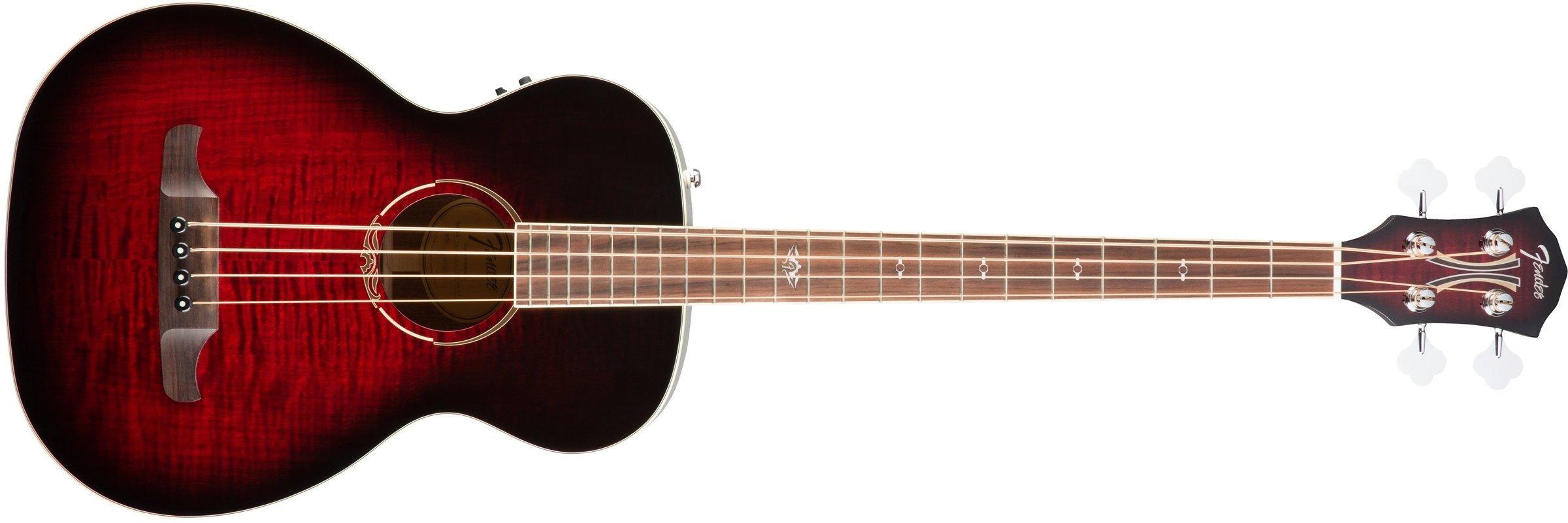Fender T-Bucket 300 Acoustic Electric Bass Guitar, Rosewood Fingerboard - Trans Cherry Burst