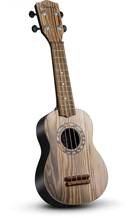 "JaxoJoy 21"" Madera Guitarra / Ukelele | Niños Principiantes Instrumento Musical Con Cuerdas Totalmente Jugables"