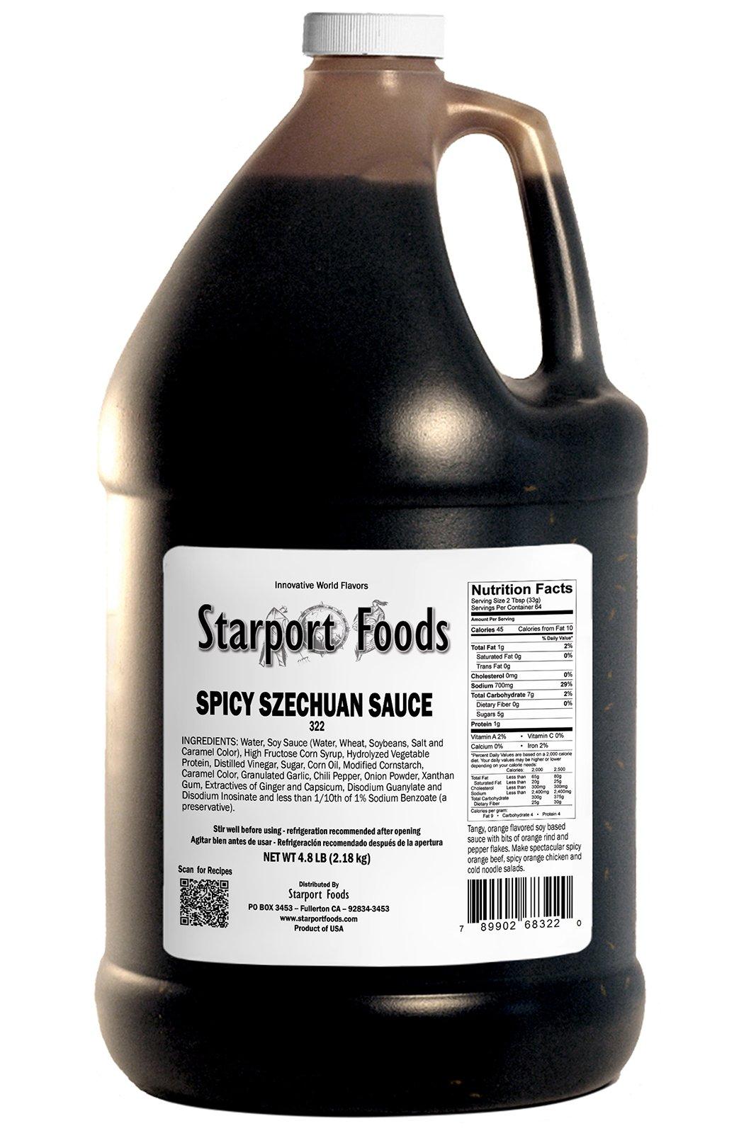 Starport Foods Spicy Szechuan Sauce, 64oz jug, Net Wt 4.8lb