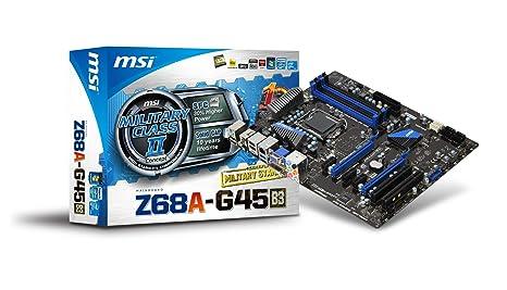 MSI Z68A-G45 (B3) scheda madre: Amazon it: Informatica