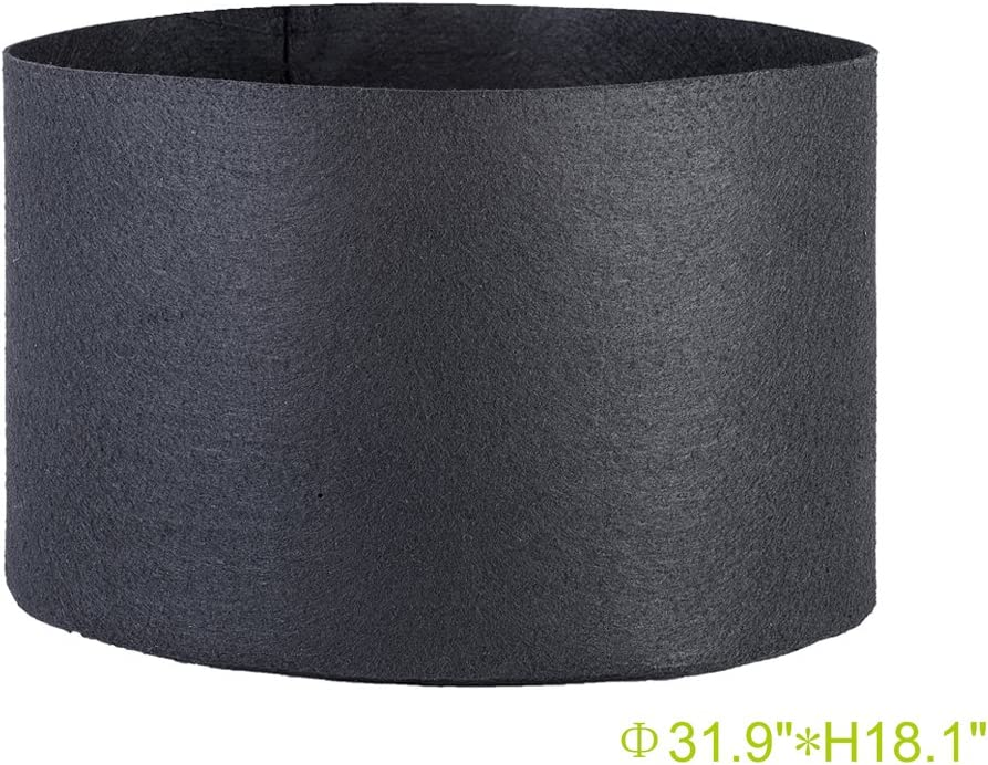 TopoGrow 65 Gallon 3-Pack Round Fabric Fabric Aeration Pots Container for Nursery Garden and Planting Grow Black W no Handles 65 Gallon