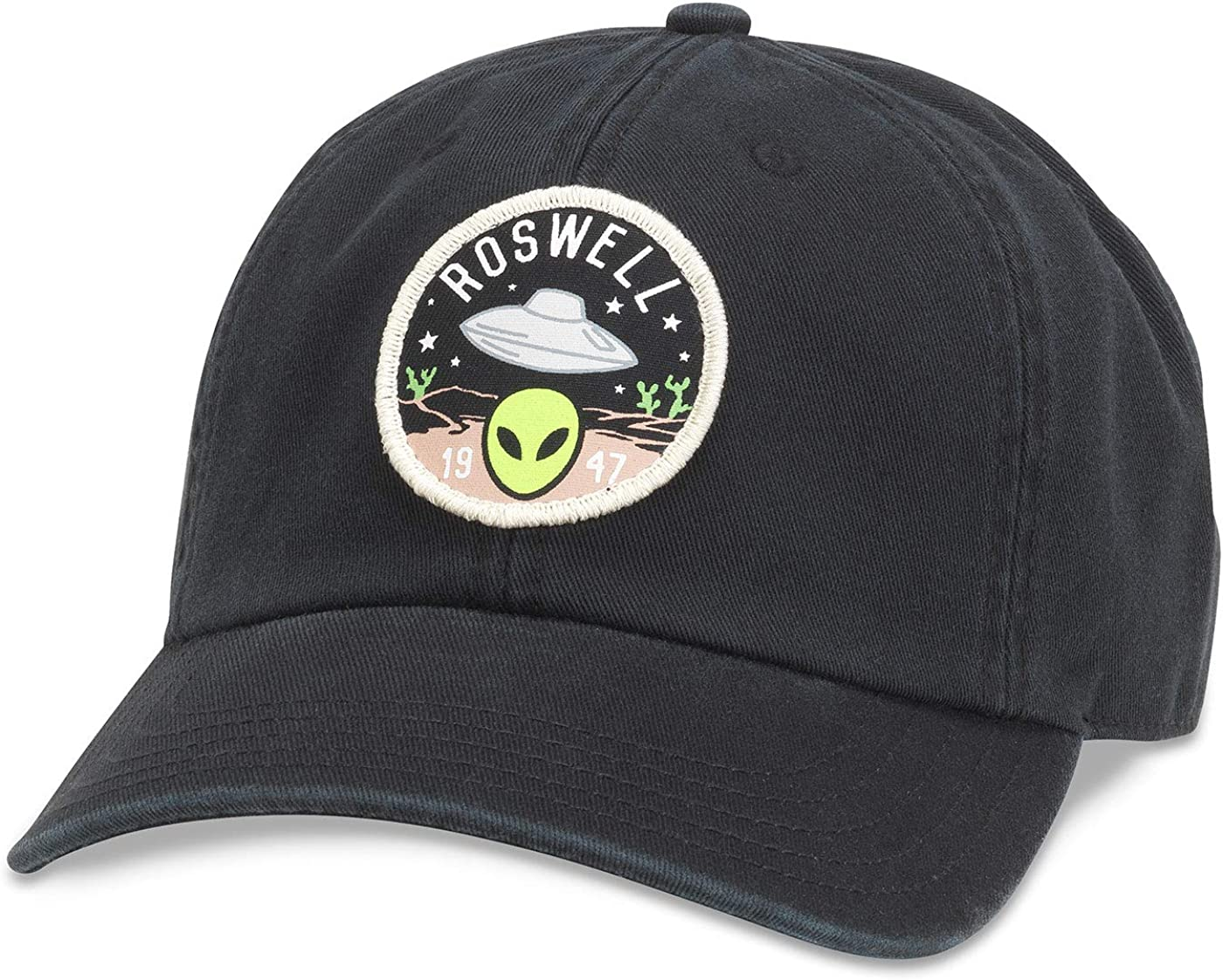 AMERICAN NEEDLE Rosewell Hepcat Curved Brim Adjustable Hat Black