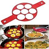 Kemilove Nonstick Silicone Pancake Ring, Fried Egg Mold Egg Ring Egg Shaper?A#