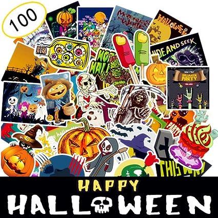 AhaSky Pegatinas-100pcs, Halloween Mejor Vinilo de Las Etiquetas engomadas Pack - para Laptop Tabla De Snowboard ...