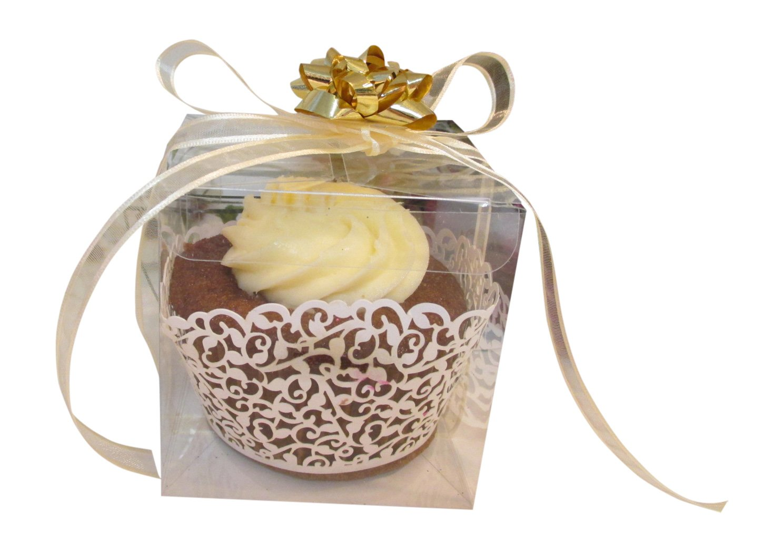 Amazon.com: 25 PCS Clear Plastic Tuck Top PVC Cupcake Wedding Party ...