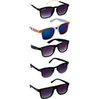 Silver Kartz Best Selling Gift Pack of UV 400 Protection Unisex Sunglasses Pack of 5   aio5  