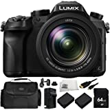 Panasonic Lumix DMC-FZ2500 Digital Camera 8PC Kit - Includes 64GB SD Memory Card, 2 Replacement Batteries, Carrying Case, More - International Version (No Warranty)