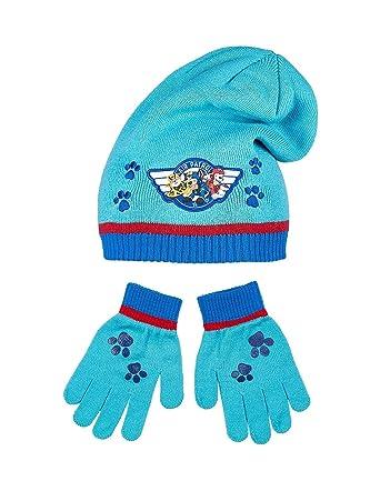 La Pat  Patrouille Bonnet et gants enfant garçon Bleu de 3 à 9ans - Bleu,  54 cm (6-8 ans)  Amazon.fr  Vêtements et accessoires 416b739d82e