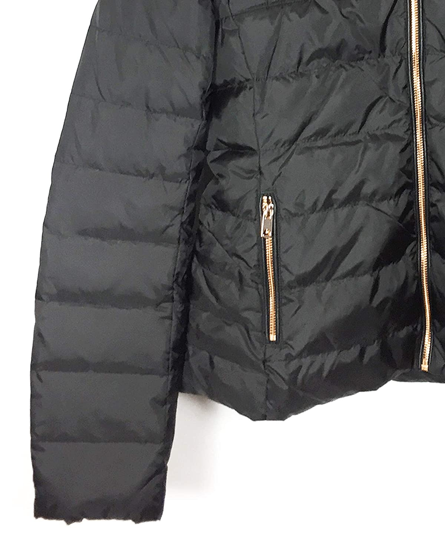 8740e749e49f Zara Women s Hooded Down Puffer Jacket 8073 223 Black  Amazon.co.uk   Clothing