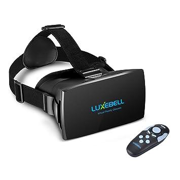 27176dbdf4 3D Gafas VR Luxebell Gafas de Realidad Virtual con Mando a Distancia,  Correa Ajustable para