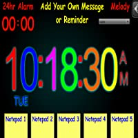 Sticky Digital Alarm Clock - *Features Include 5 x Notepads & Reminders*