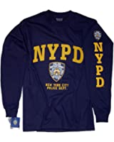 NYPD Shirt Long Sleeve T-Shirt Navy Blue Authentic Clothing Apparel Officially Licensed Merchandise by The New York City Police Department