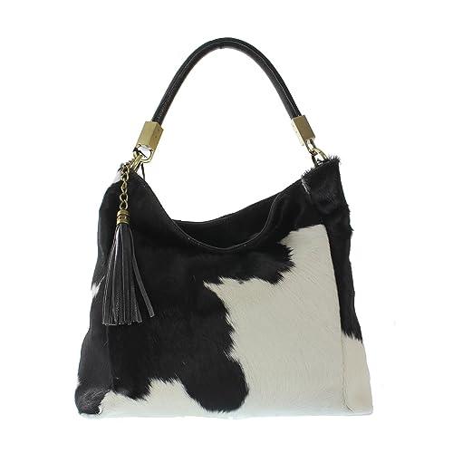 02ac8f7fe3 CTM borsa grande a mano da donna con tracolla rivestita in Cavallino ...