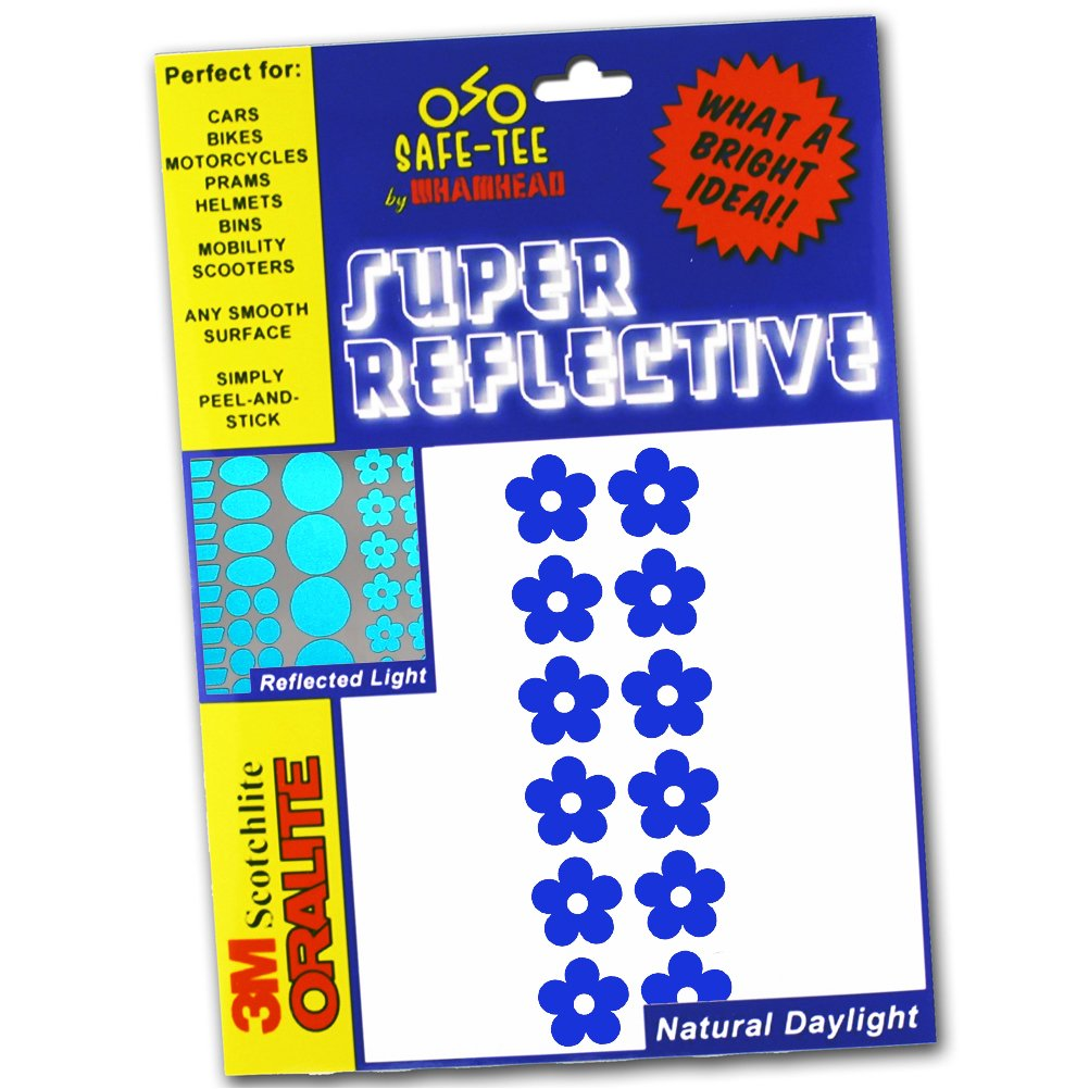 Safe-Tee Reflective BLUE FLOWER Safety Stickers Whamhead REF-FLO-BLU