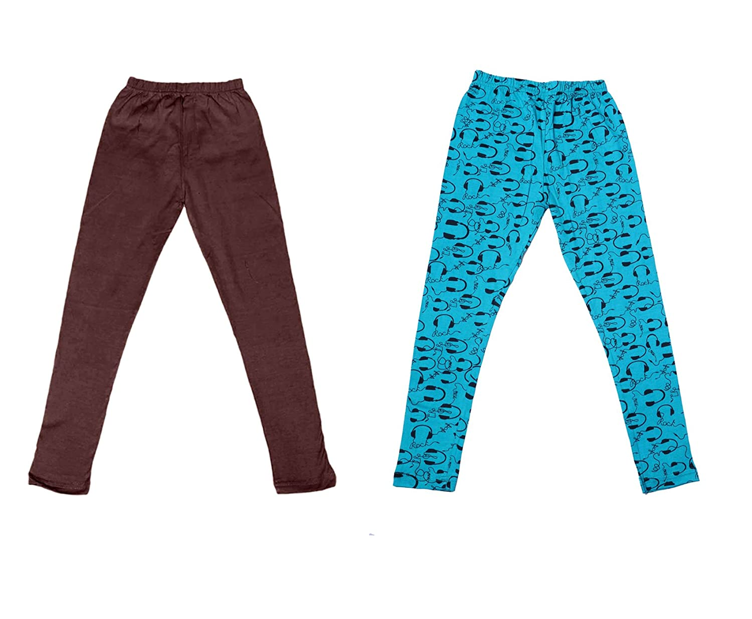 /_Multicolor/_Size-7-8 Years/_71403041920-IW-P4-30 Indistar Girls 2 Cotton Solid Legging Pants Pack Of 4 and 2 Cotton Printed Legging Pants