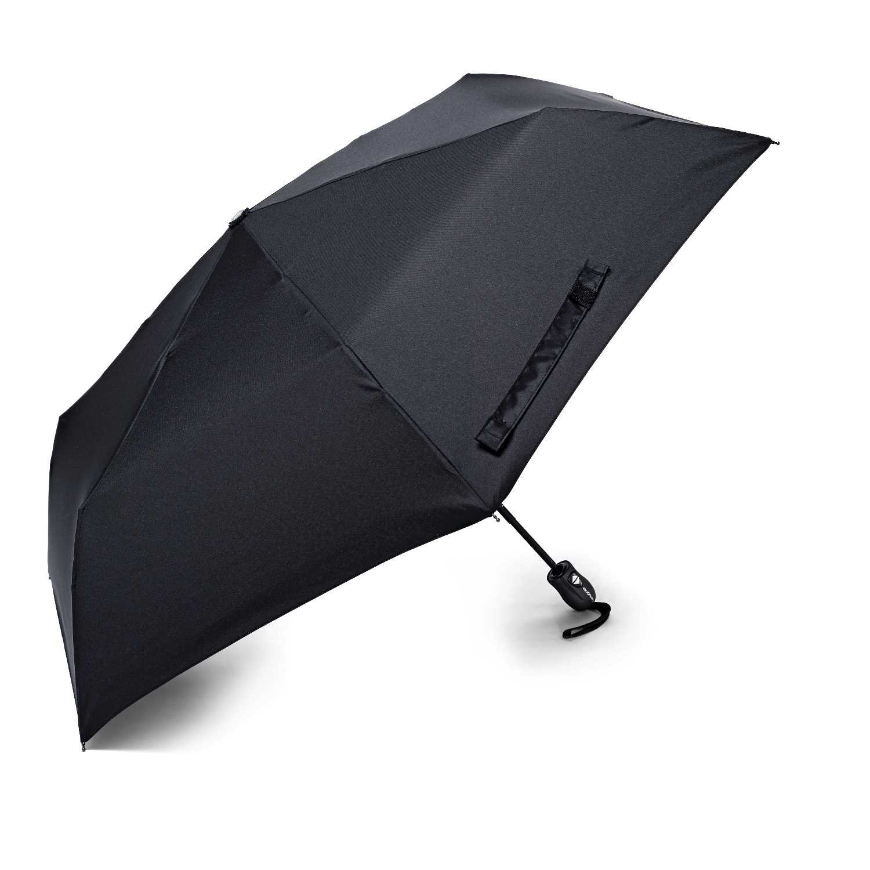 Samsonite Compact Auto Open/Close Umbrella, Black, One Size
