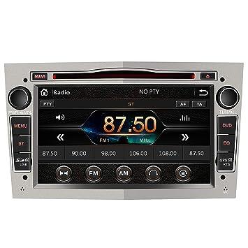 Radio Coche 7 Pulgadas con Pantalla Táctil 2 DIN para Opel, Autoradio con Bluetooth/GPS/FM/RDS/CD DVD/USB/SD, Apoyo Mandos Volante, Mirrorlink y ...