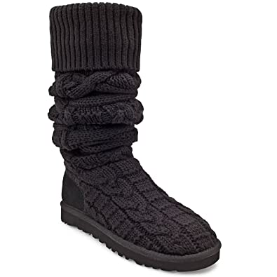 acc380aa970 UGG Australia Womens Over The Knee Twisted Cable Boots Black Size 8 ...