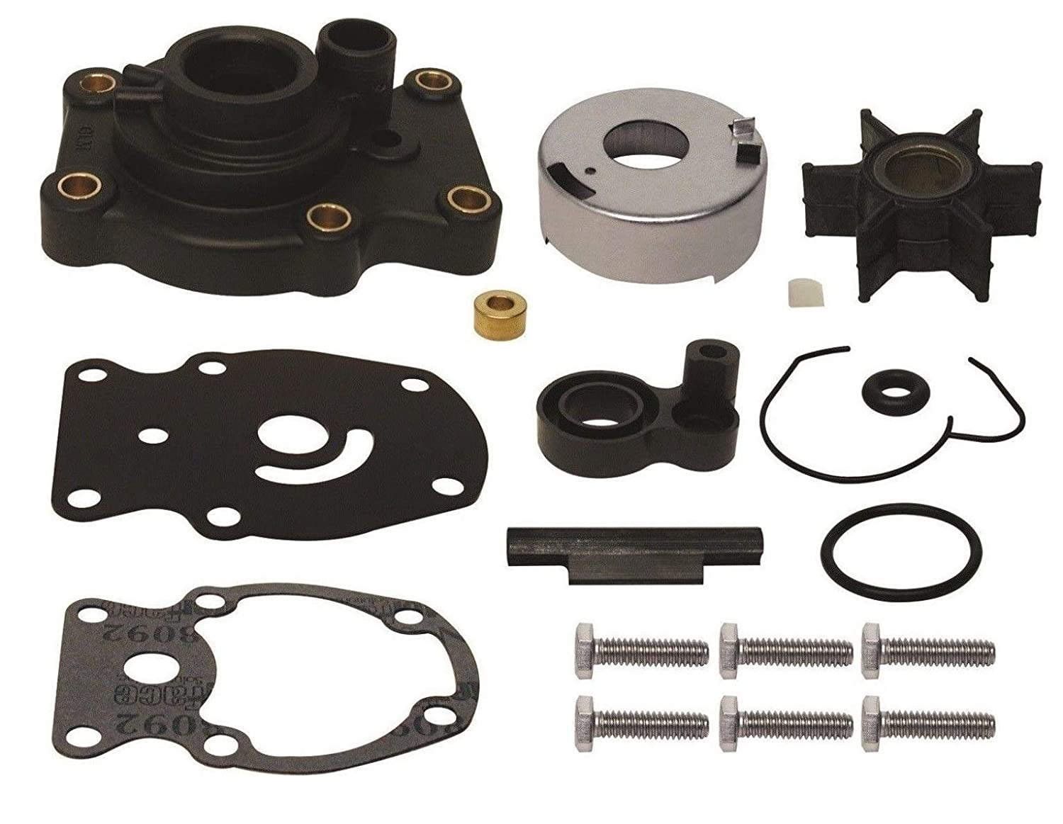 8 Hp Replaces 396644 Read Item Description for Exact Applications GLM Water Pump Impeller Kit for Johnson Evinrude Outboard 4 4.5 5 6