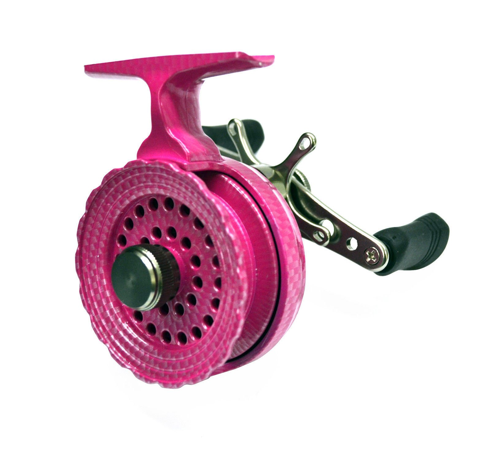 EAGLE CLAW INLINE ICE FISHING REEL (PINK) MPN: ECILIRP BLUEGILL WALLEYE PERCH