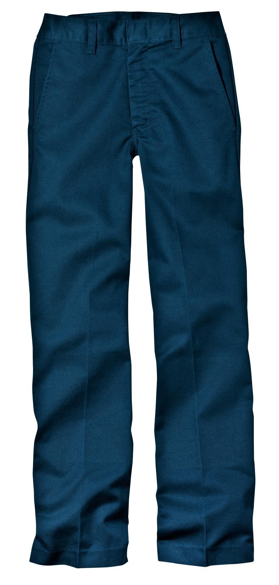 Dickies Husky Boys Flat Front Pant, Dark Navy, 18 Husky/34'' x 31''