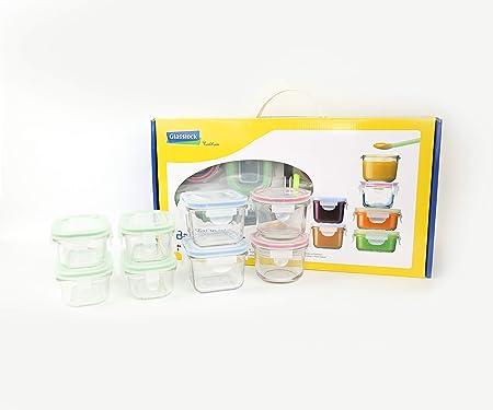 Glasslock (GL-372, 4x 150ml, 2x 210ml, 2x 165ml) Envase de vidrio ...