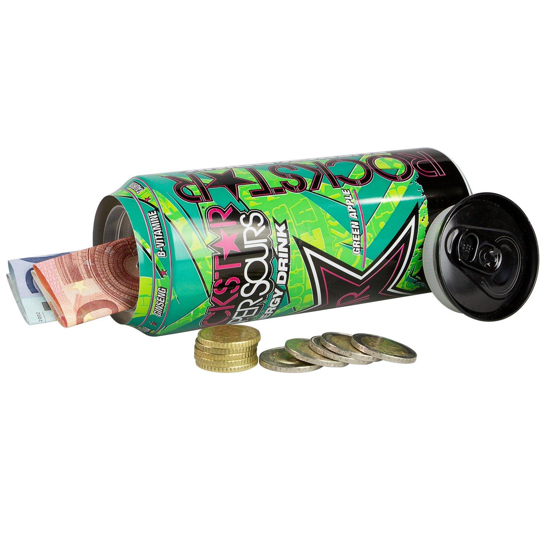 Dosensafe Dosentresor Geldversteck Rockstar Energy Drink 16,0 x 6,5 cm Farblich sortiert